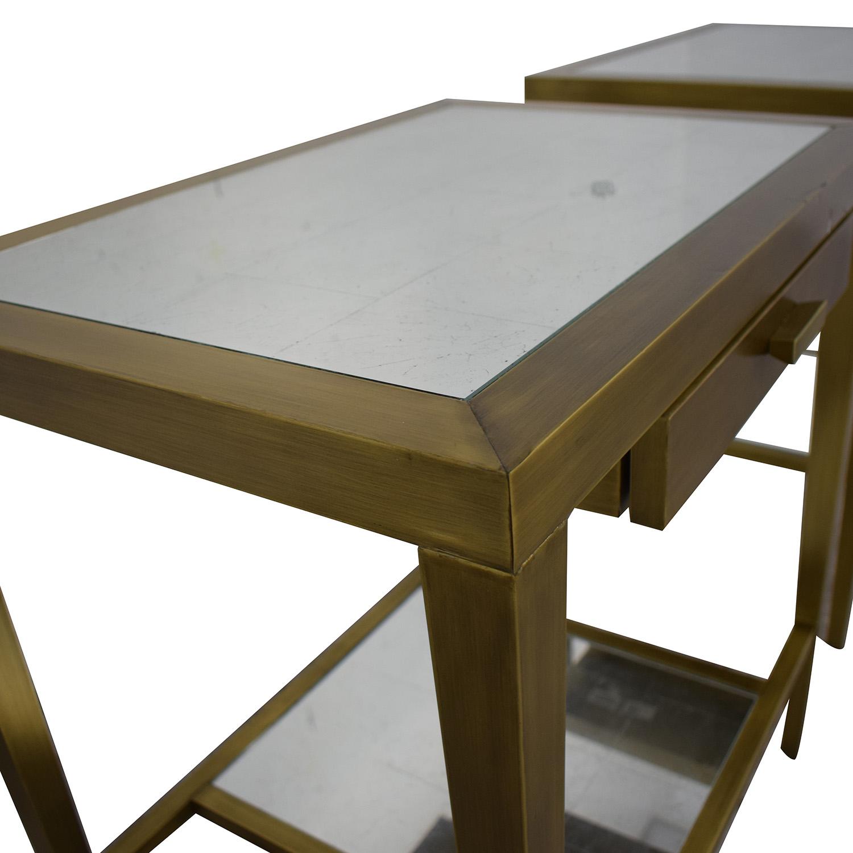 buy Geoffrey Bradfield Geoffrey Bradfield Brass Mirrored End Tables online