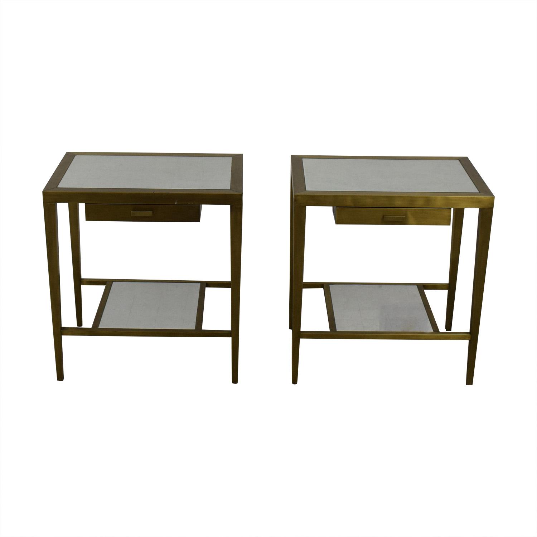 shop Geoffrey Bradfield Geoffrey Bradfield Brass Mirrored End Tables online