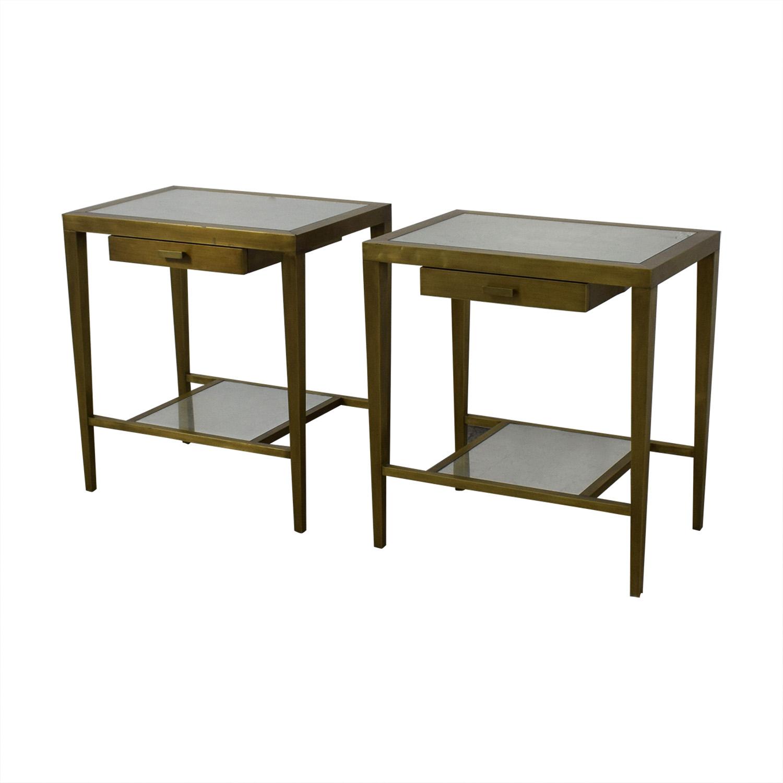 buy Geoffrey Bradfield Brass Mirrored End Tables Geoffrey Bradfield