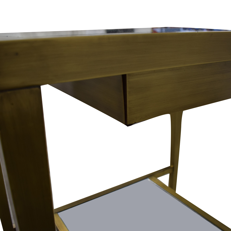 Geoffrey Bradfield Brass Mirrored End Tables / Tables
