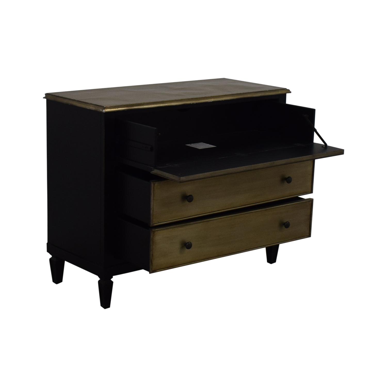 Hooker Furniture Hooker Furniture Two-Tone Aluminium Wrap & Black Chest price