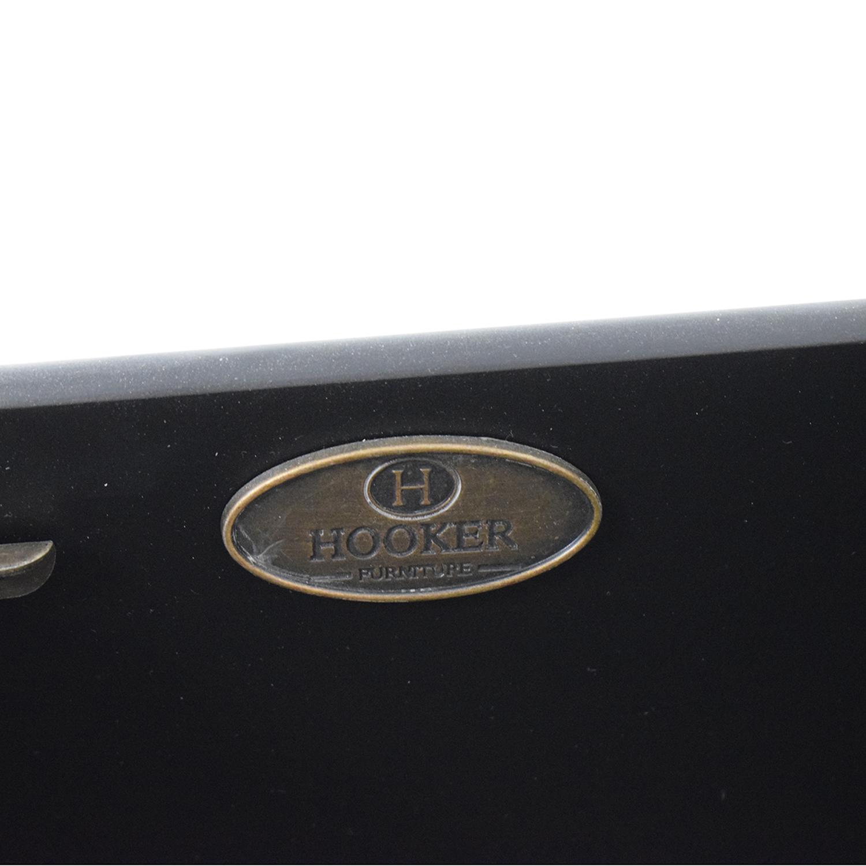Hooker Furniture Two-Tone Aluminium Wrap & Black Chest / Dressers