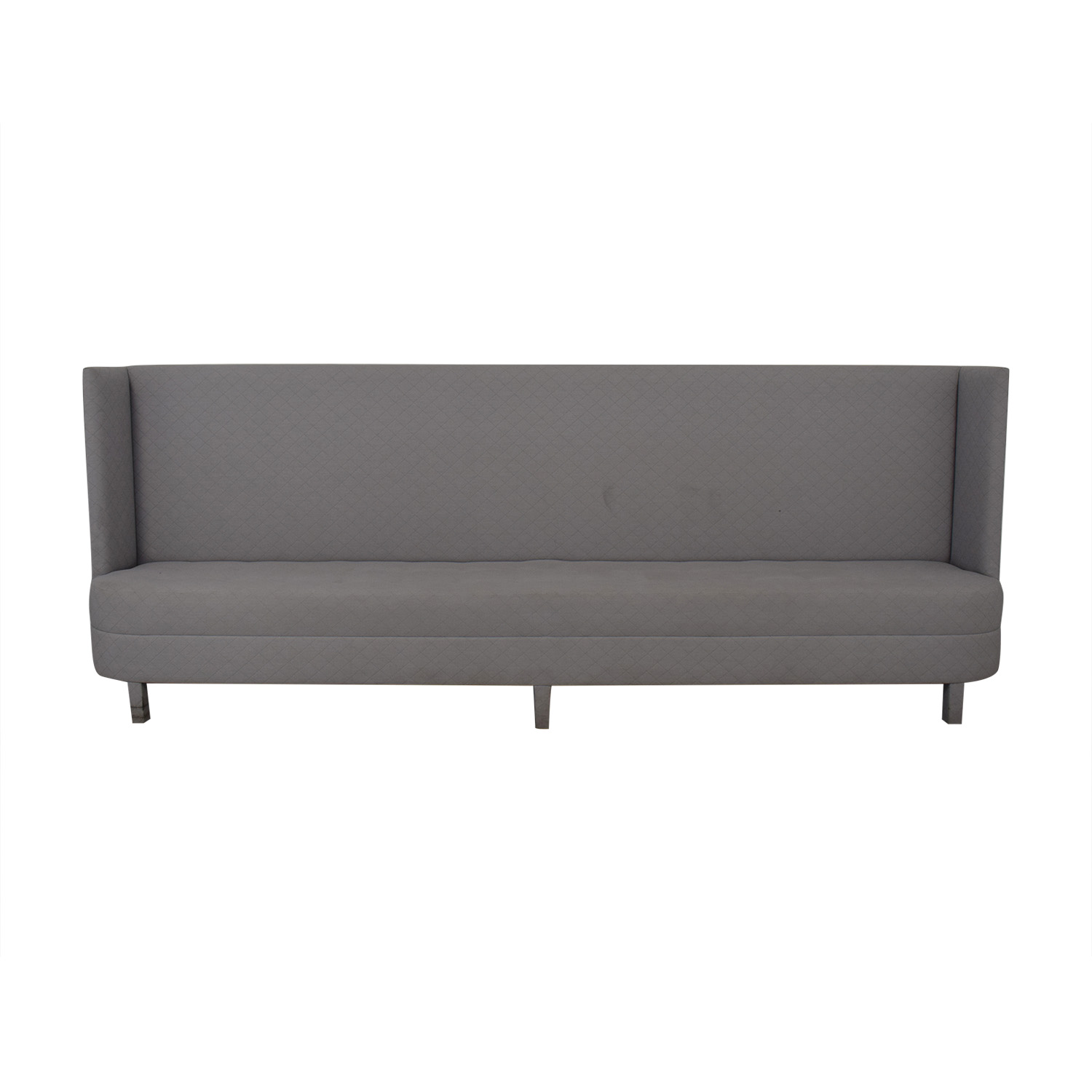 Eric Cohler Grey Tufted High Back Banquette Sofas