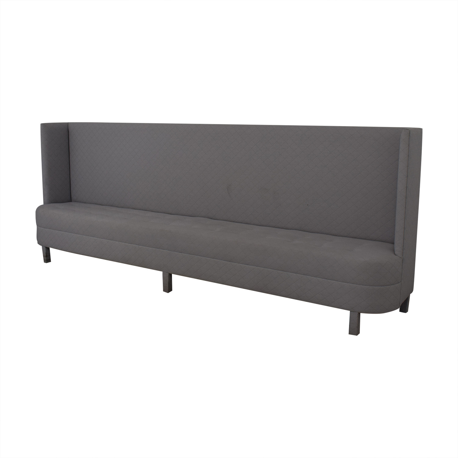 buy Eric Cohler Grey Tufted High Back Banquette  Classic Sofas