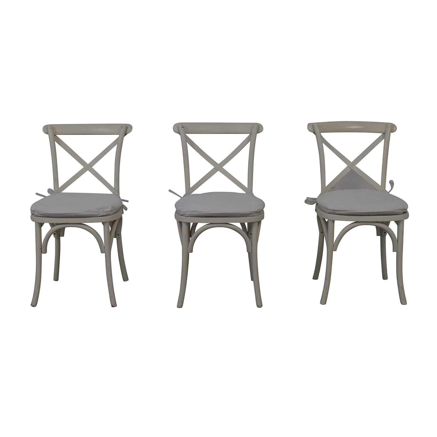 Restoration Hardware Restoration Hardware Madeline Chairs with Covers used