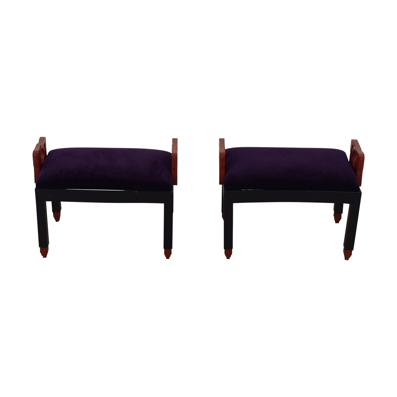buy Purple Decorative Stool Set