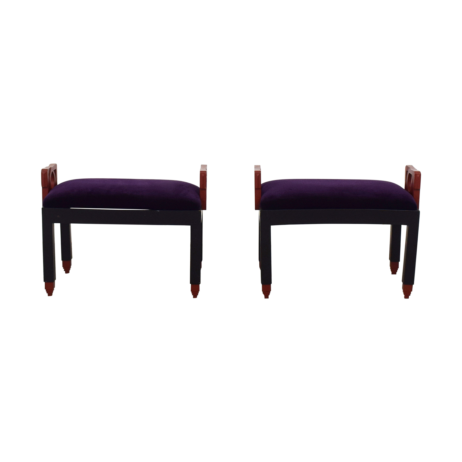 Purple Decorative Stool Set / Chairs