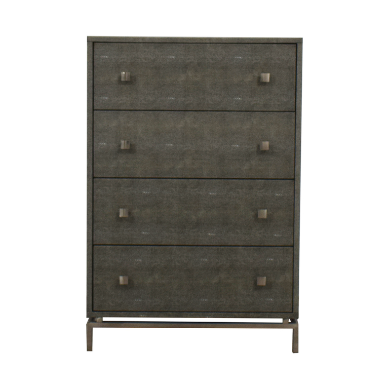 CB2 CB2 Shagreen Embossed Tall Chest nj