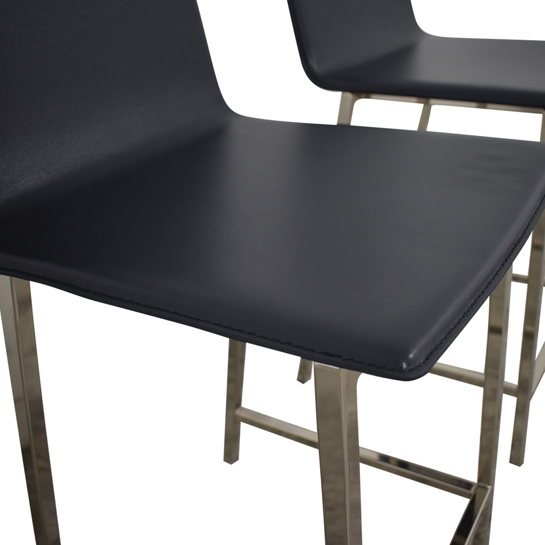 buy CB2 Phoenix Carbon Bar Stools CB2 Chairs