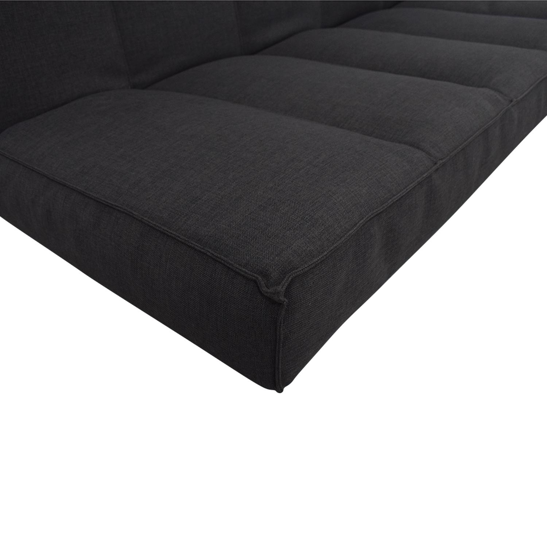 CB2 Flex Gravel Sleeper Sofa CB2