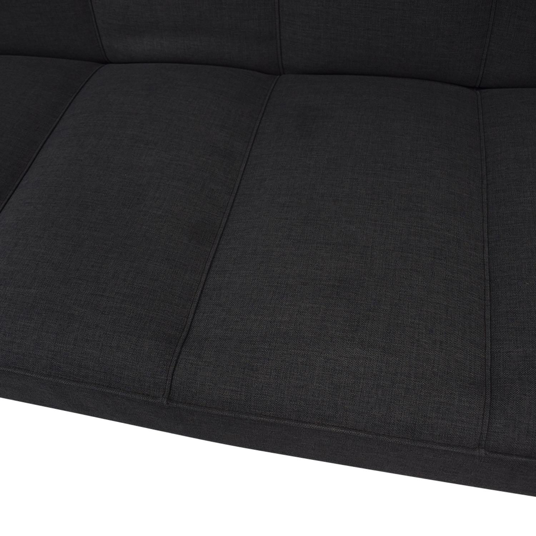 CB2 CB2 Flex Gravel Sleeper Sofa Gray