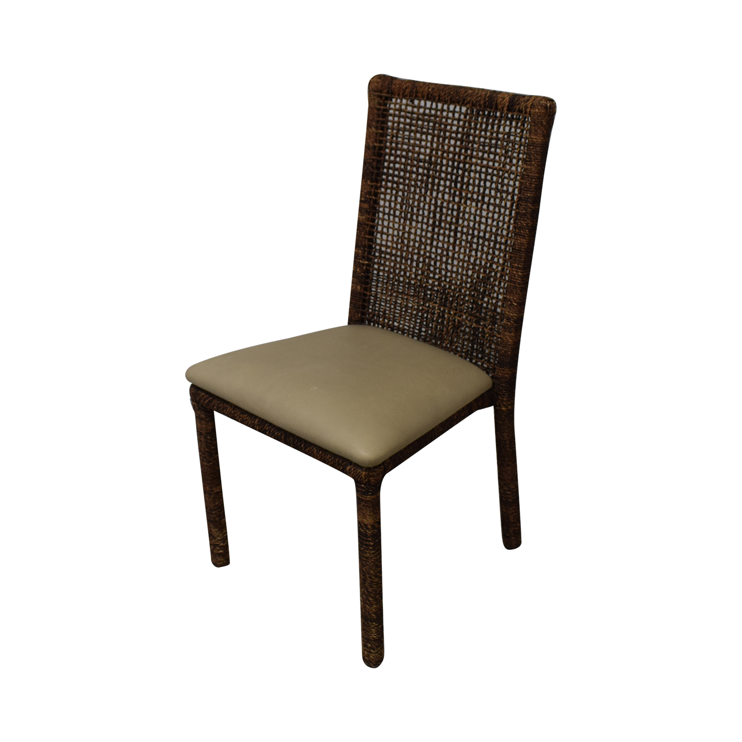 Upholstered Wicker Dining Chairs With Extendable Table discount