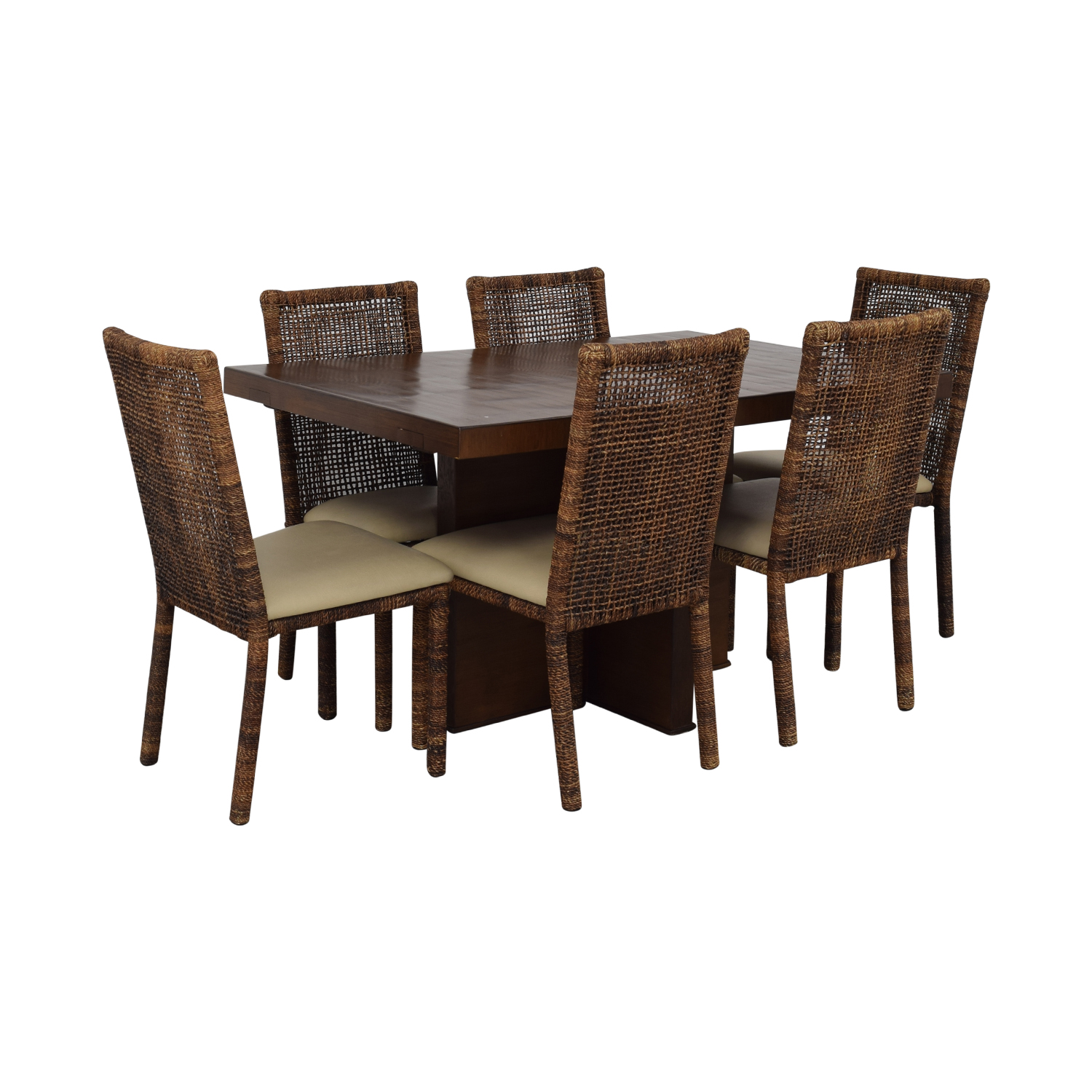 shop  Upholstered Wicker Dining Chairs With Extendable Table online