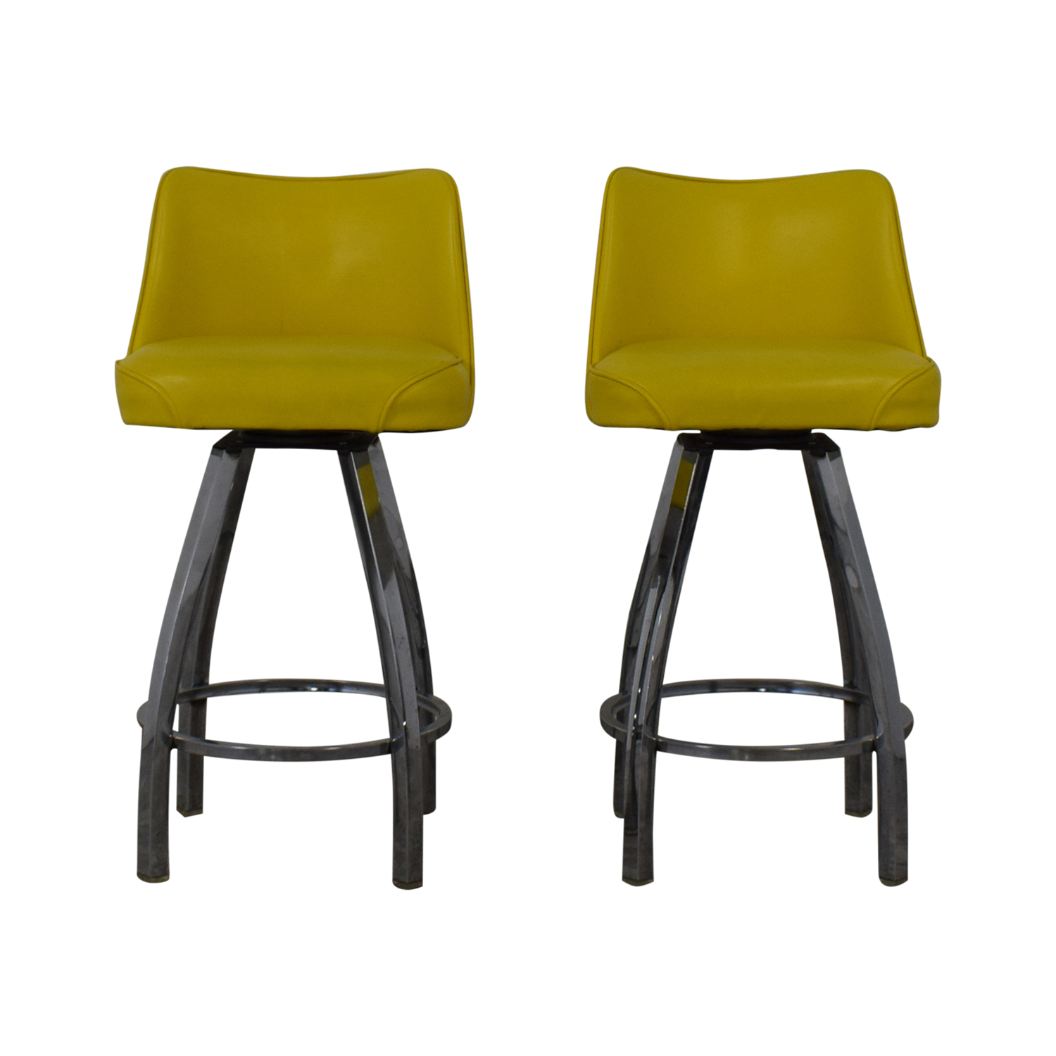 buy  Lemon Yellow Modern Bar Stools online