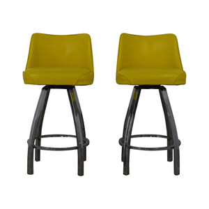 Lemon Yellow Modern Bar Stools second hand
