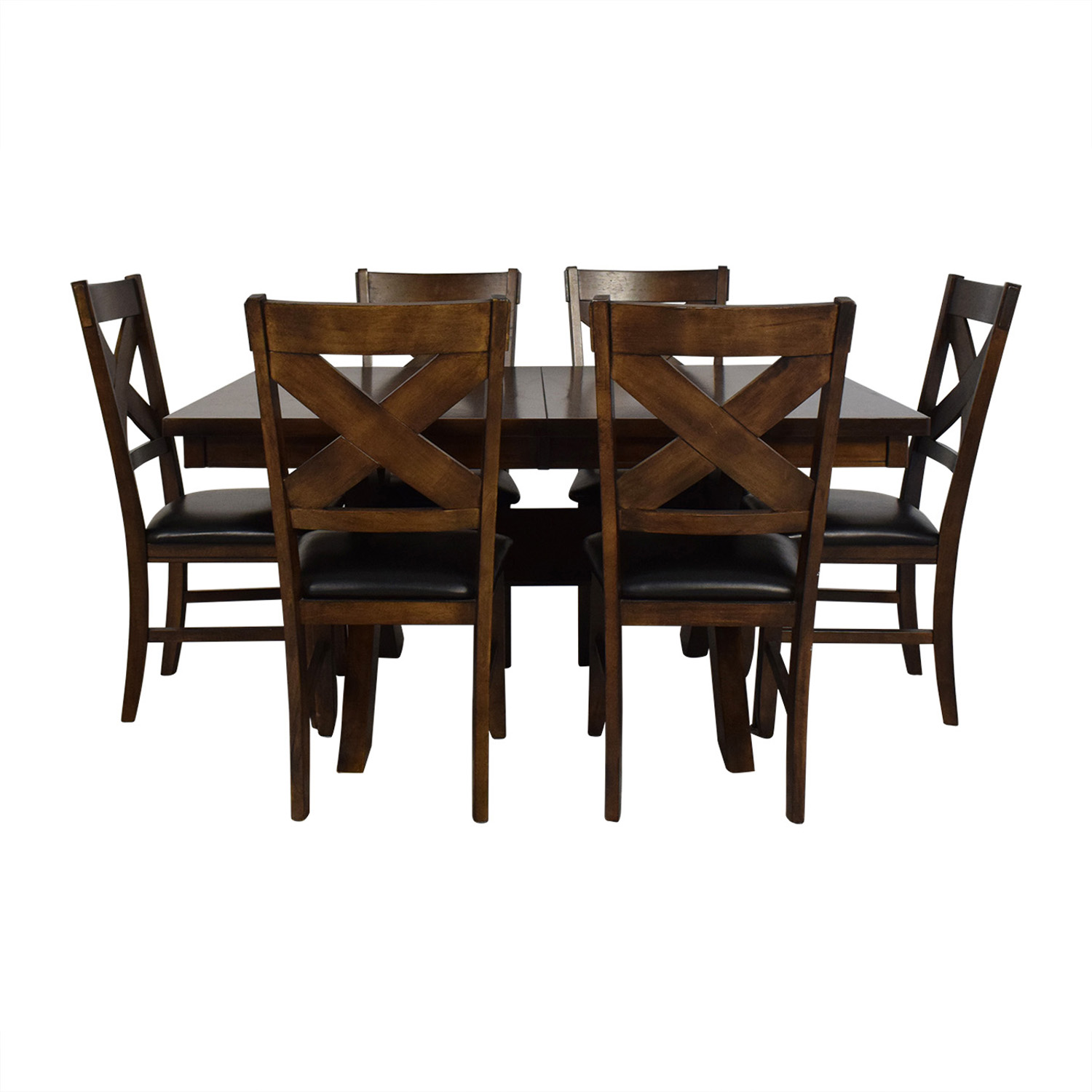 Pleasant 67 Off Green River Wood Six Chair Dining Set Tables Ibusinesslaw Wood Chair Design Ideas Ibusinesslaworg