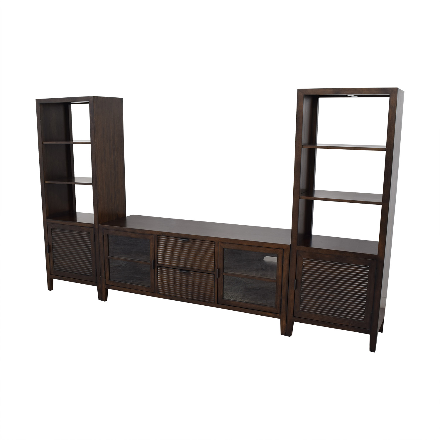Crate & Barrel Crate & Barrel Media Console with Two Media Towers on sale