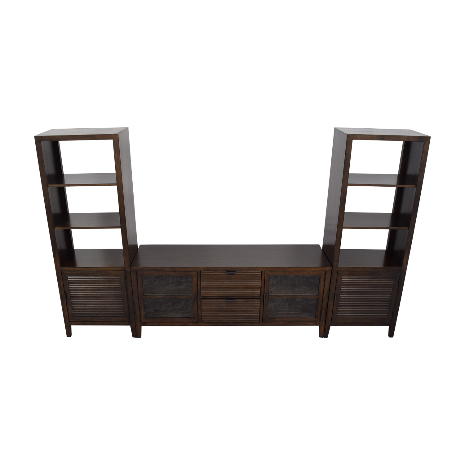 Crate & Barrel Crate & Barrel Media Console with Two Media Towers Storage