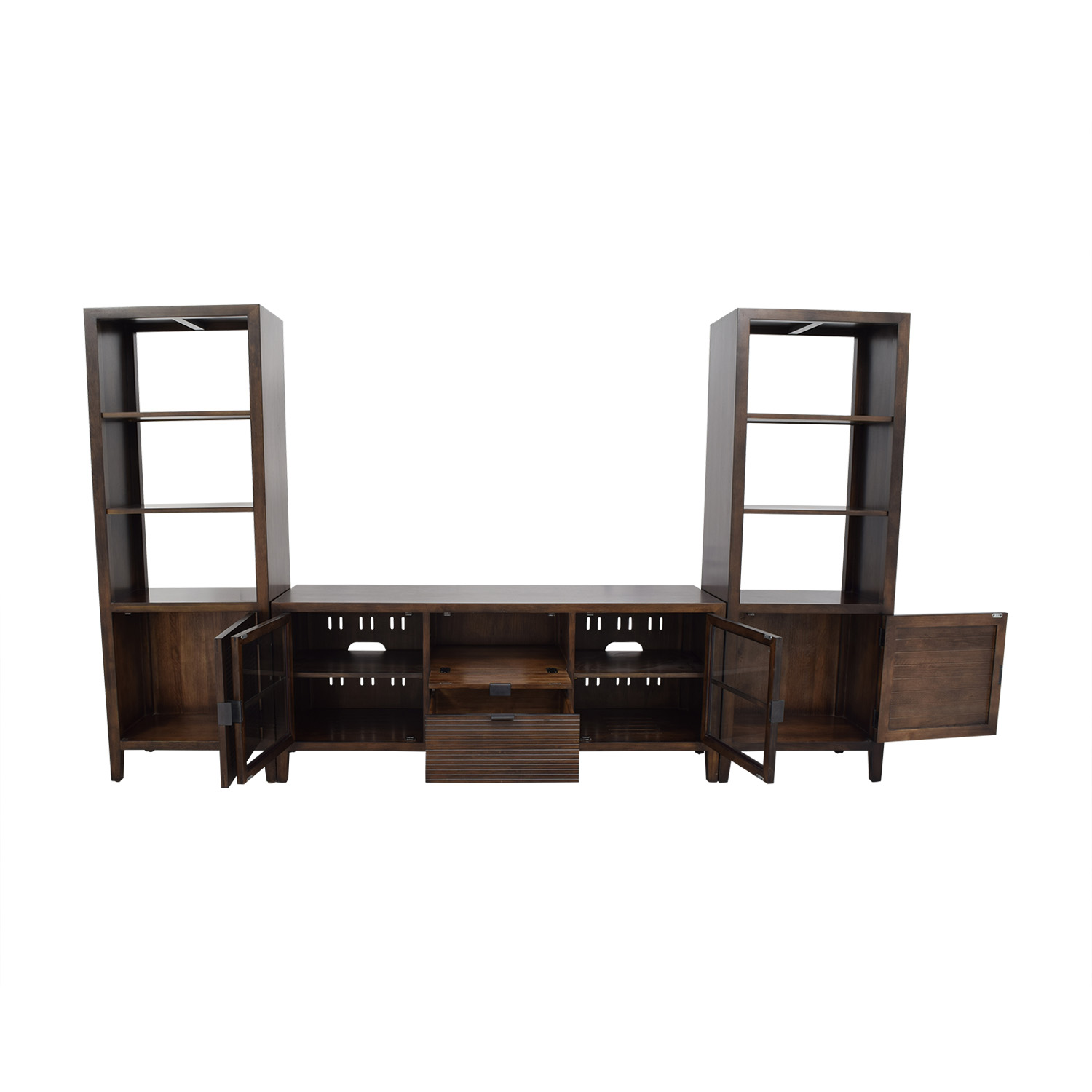 shop Crate & Barrel Media Console with Two Media Towers Crate & Barrel