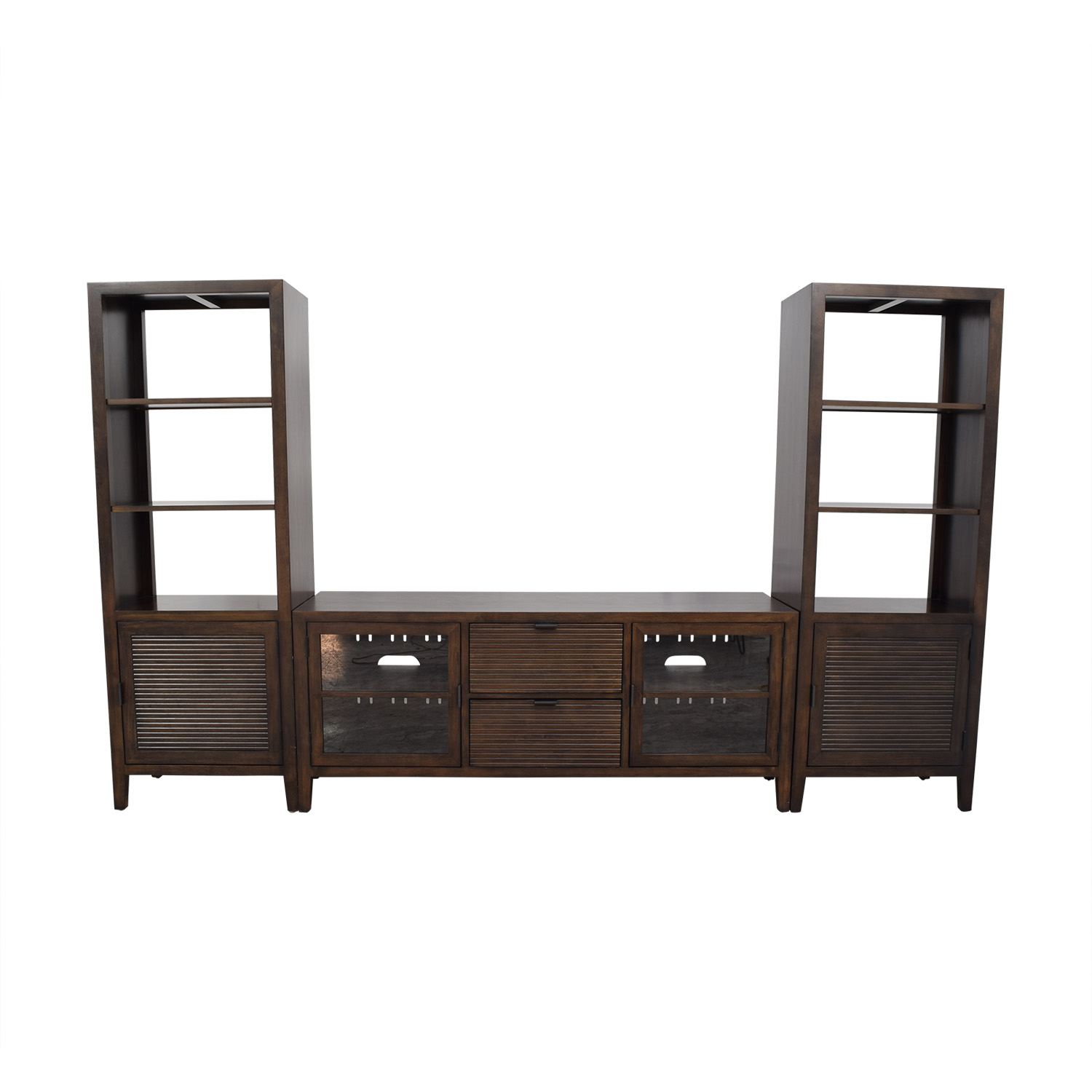 buy Crate & Barrel Media Console with Two Media Towers Crate & Barrel Storage