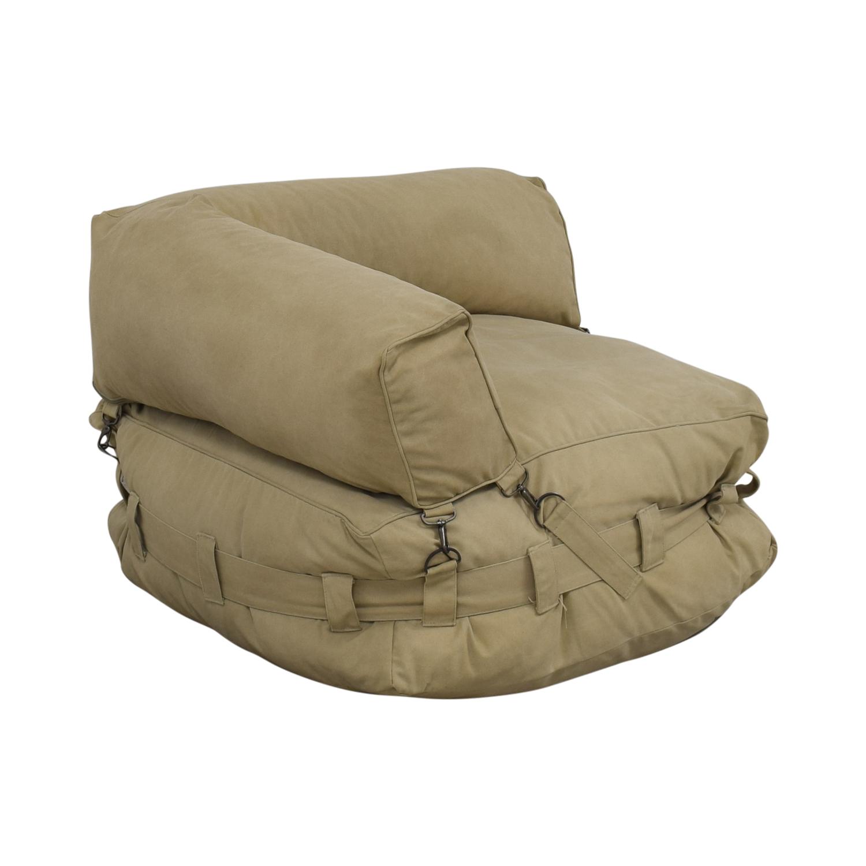 Restoration Hardware Restoration Hardware Cargo Lounge Corner Chair nyc