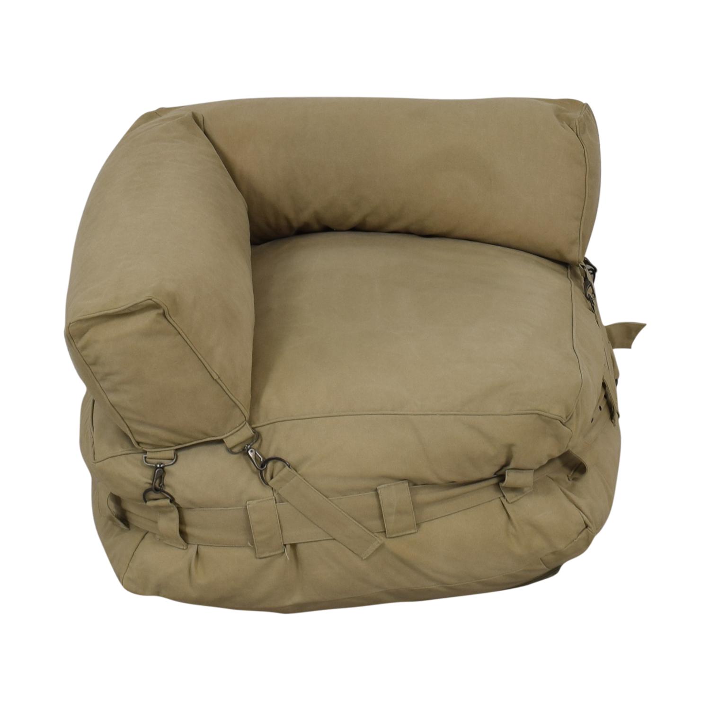 Restoration Hardware Restoration Hardware Cargo Lounge Corner Chair Chairs