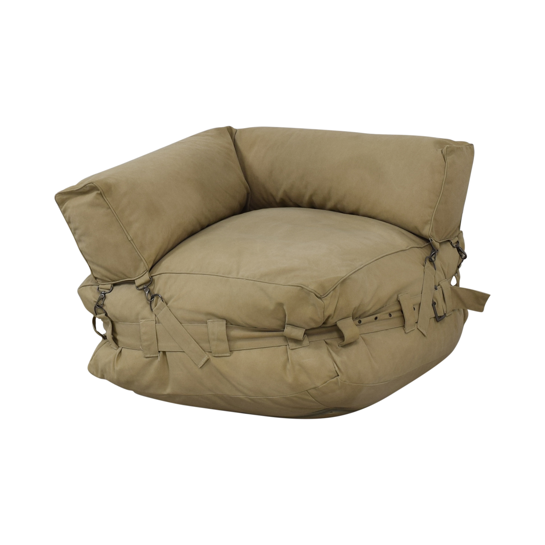 buy Restoration Hardware Cargo Lounge Corner Chair Restoration Hardware Chairs