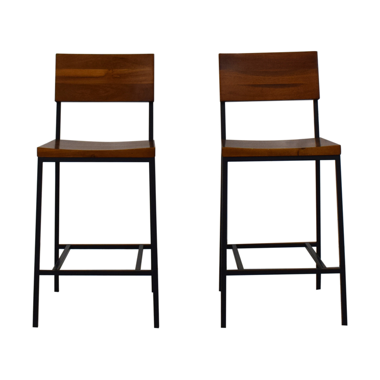 West Elm West Elm Rustic Counter Stools on sale