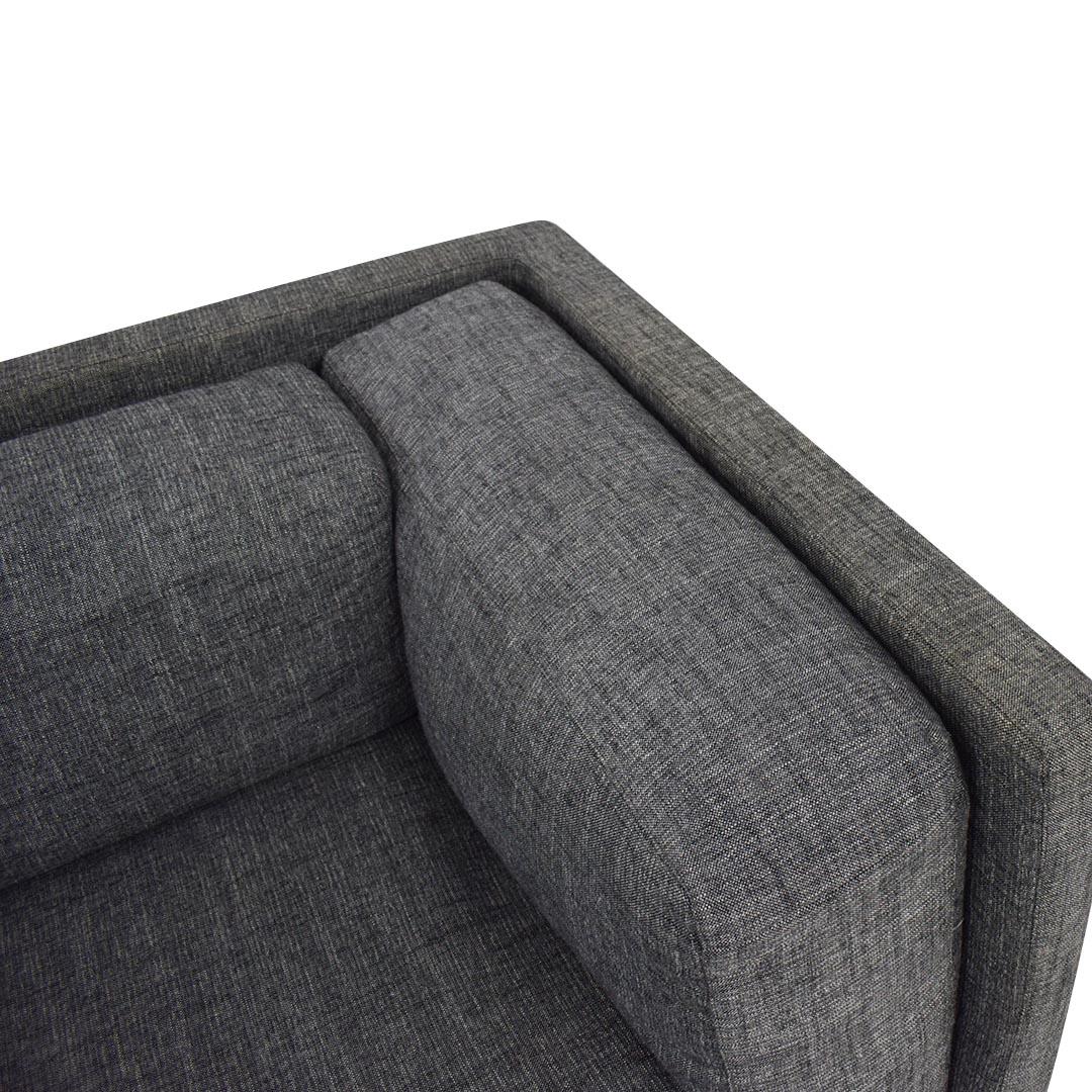 CB2 CB2 Gray Sofa for sale