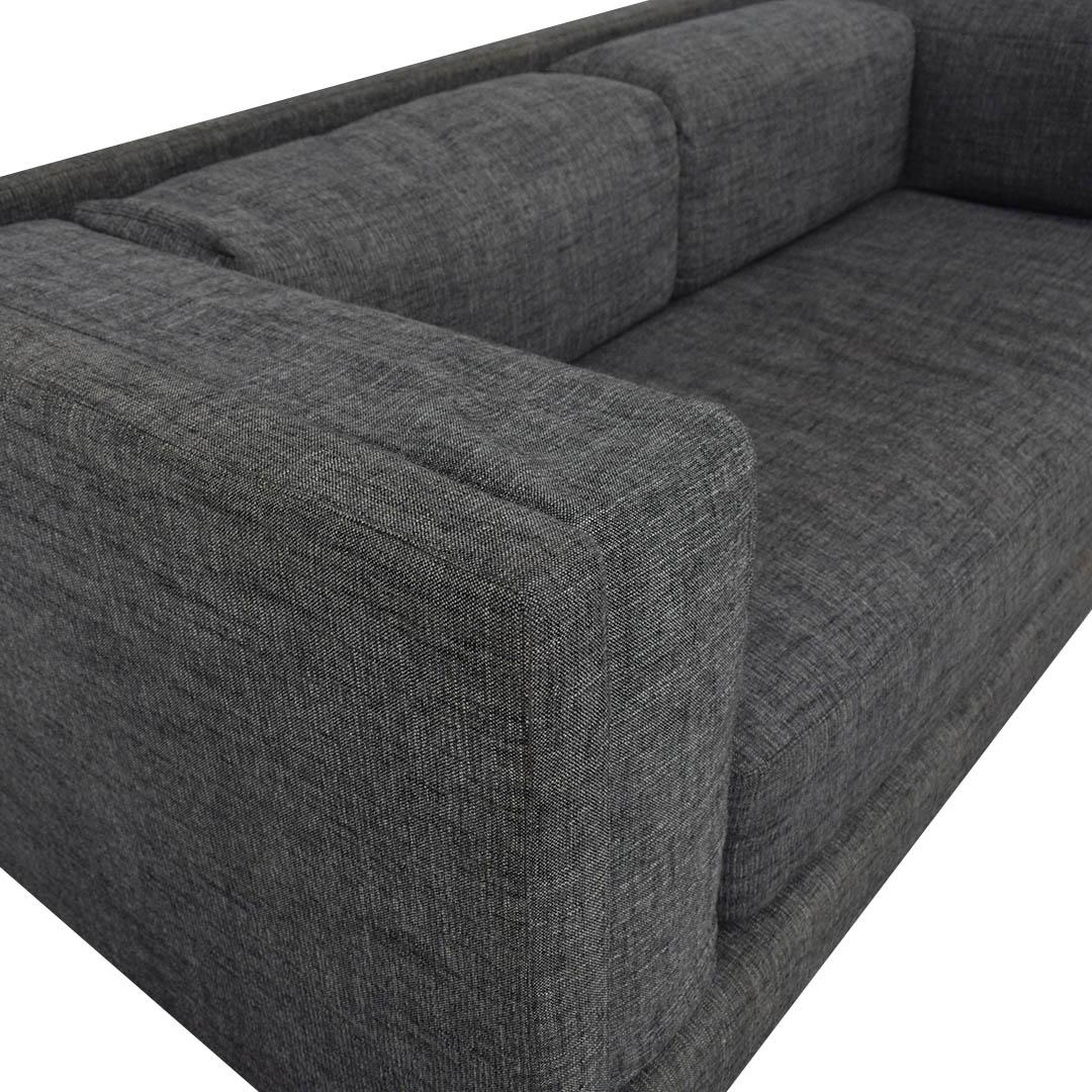 CB2 CB2 Gray Sofa nyc