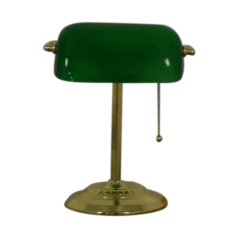Green Table Lamp green and tan