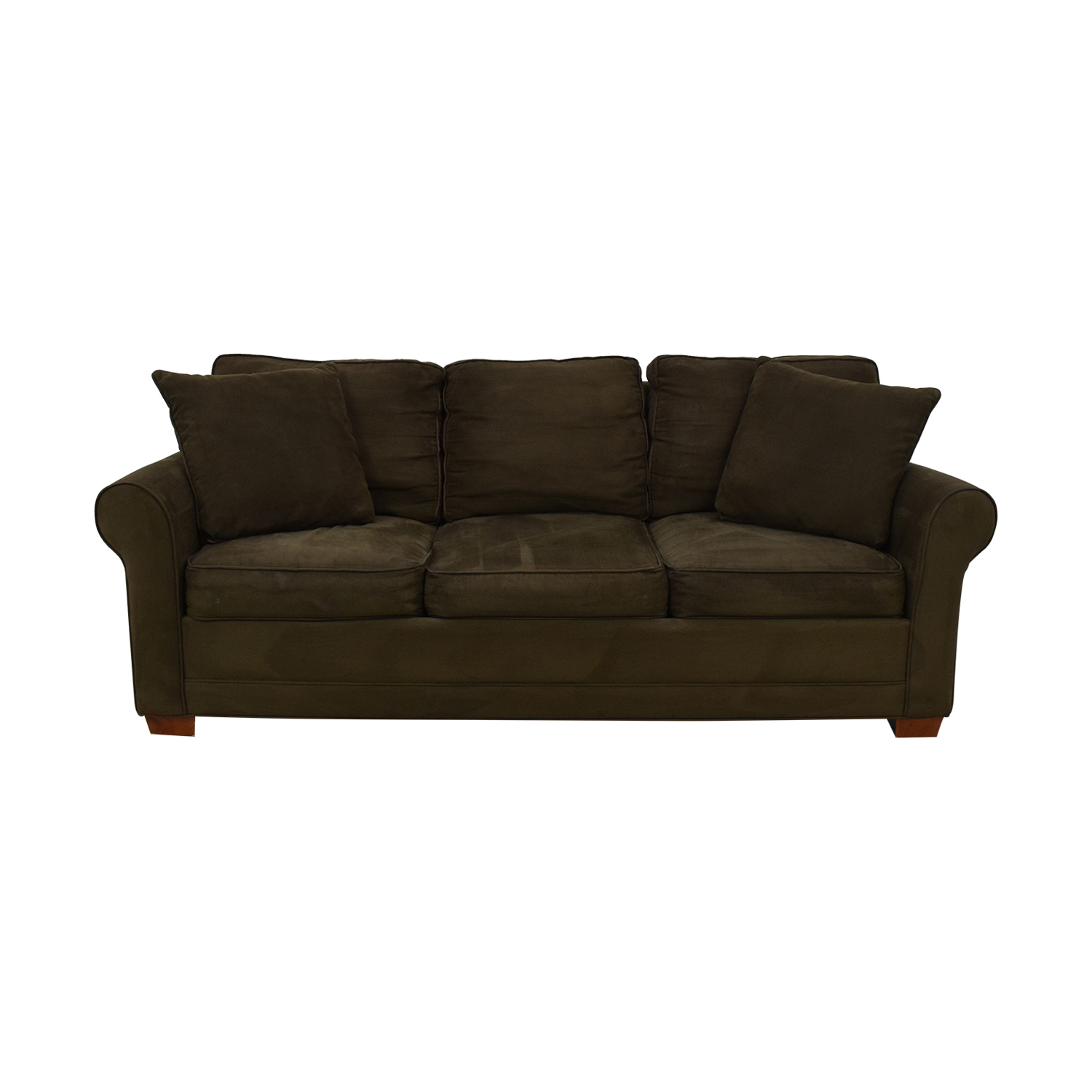 shop Raymour & Flanigan Fresno Brown Microfiber Sofa Raymour & Flanigan