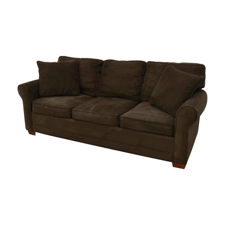 Raymour Flanigan Fresno Brown Microfiber Sofa Clic Sofas