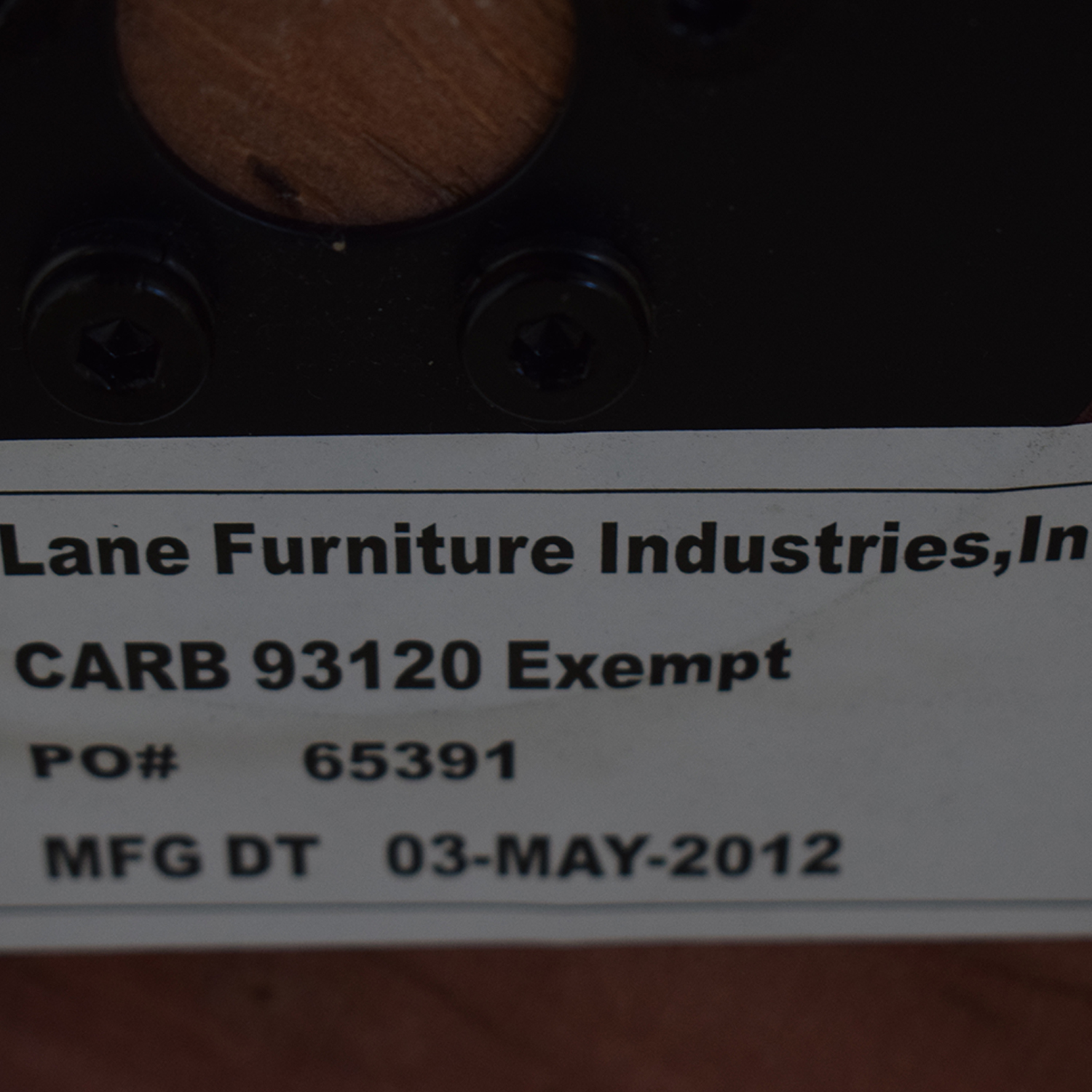 Lane Furniture Lane Furniture Recliner and Ottoman dimensions