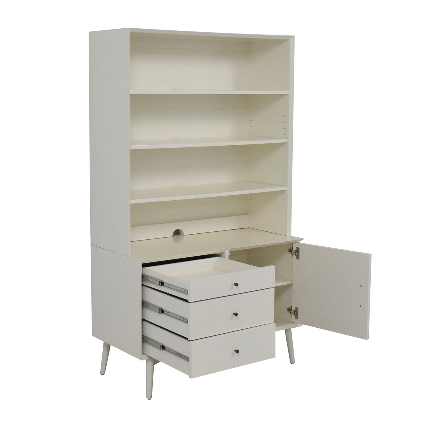 buy West Elm Media Tower in White West Elm Cabinets & Sideboards