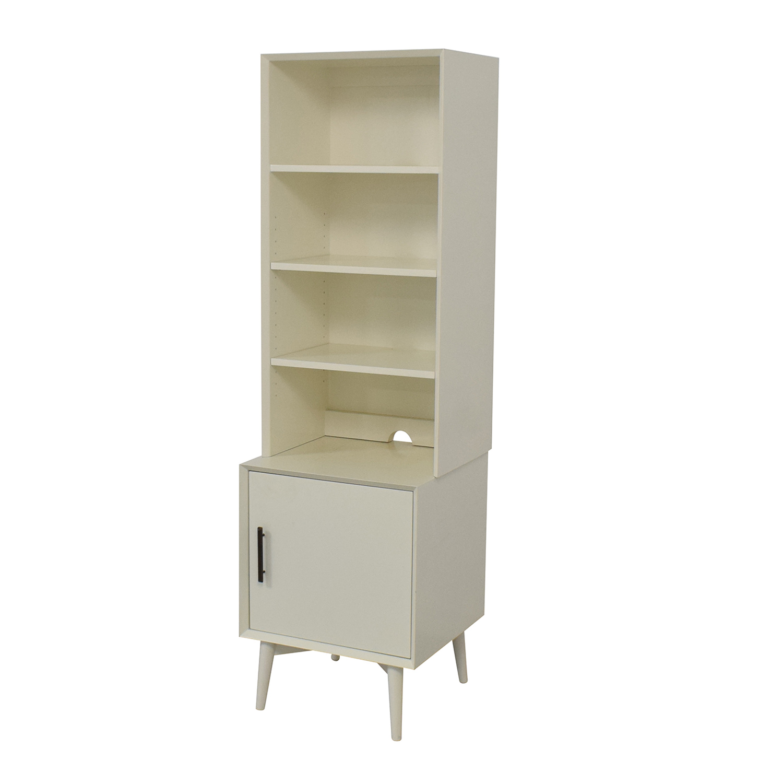 West Elm West Elm Mid-Century Bookcase in White discount