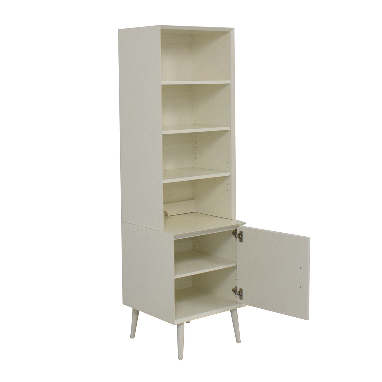 West Elm West Elm Mid-Century Bookcase in White for sale