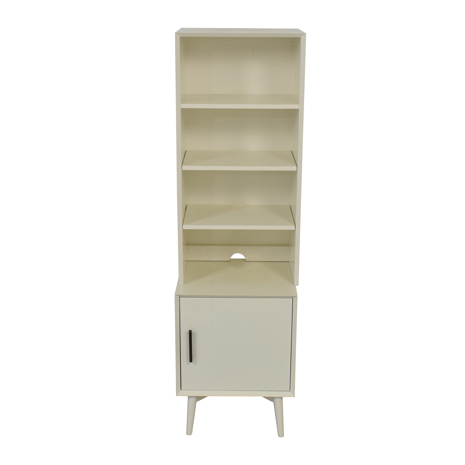 West Elm West Elm Mid-Century Bookcase in White on sale