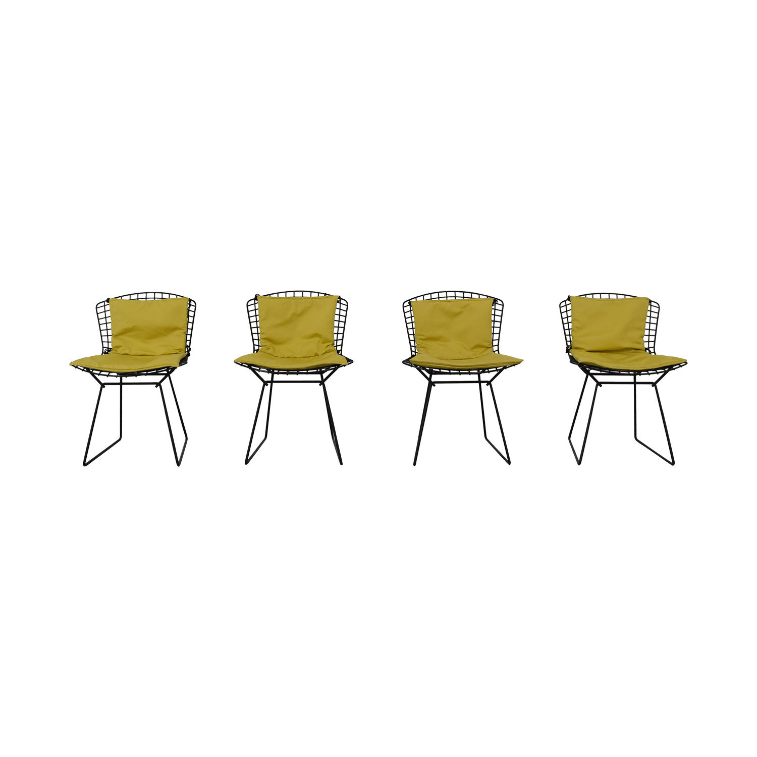 Knoll Bertoia Wire Chairs with Ligne Roset Cushions coupon