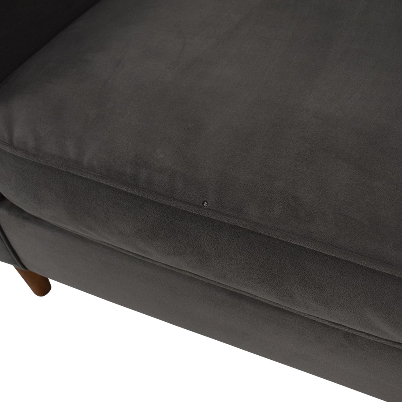 West Elm Paidge Velvet Sofa / Sofas