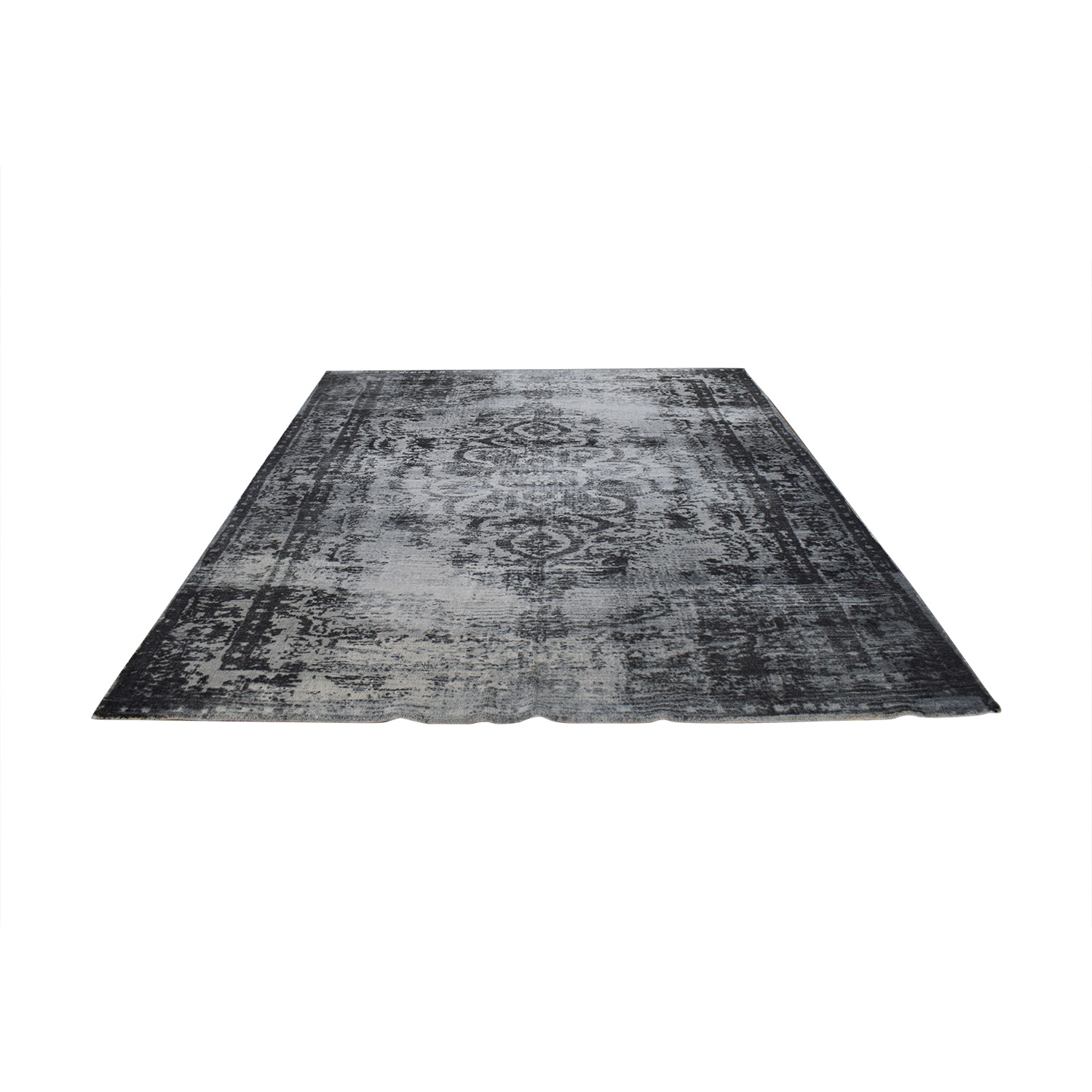 shop West Elm West Elm Distressed Arabesque Wool Rug online