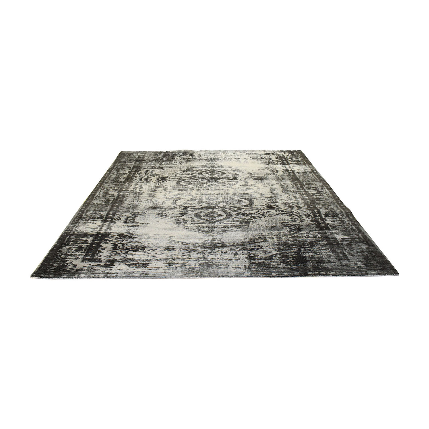buy West Elm Distressed Arabesque Wool Rug West Elm