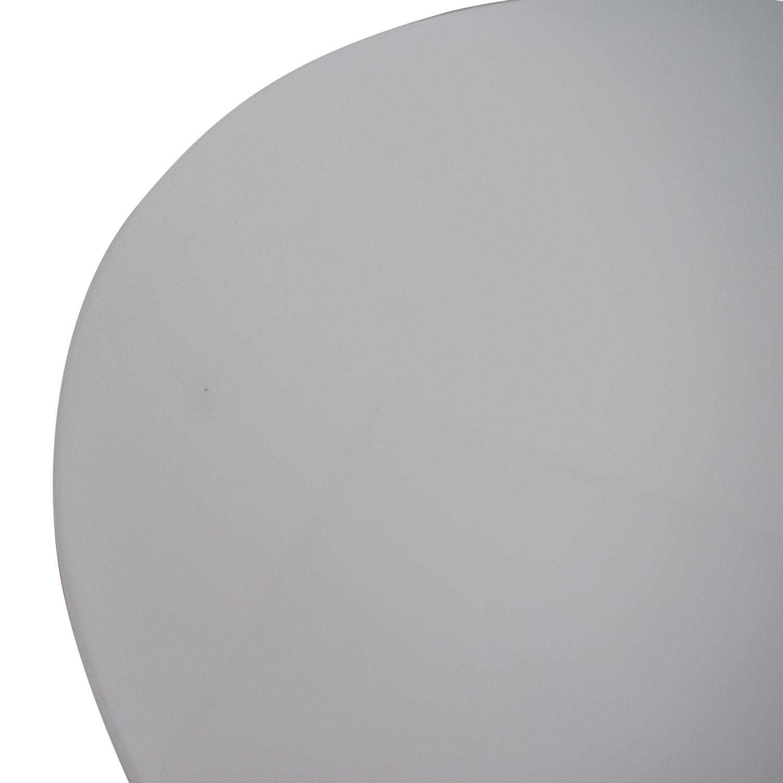 shop Kardiel White Pedestal Bistro Table Kardiel Accent Tables