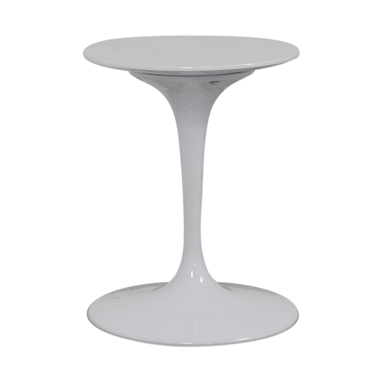 Kardiel Kardiel White Pedestal Bistro Table discount