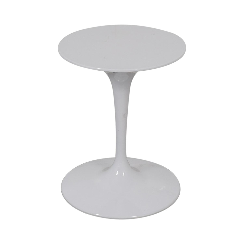 buy Kardiel White Pedestal Bistro Table Kardiel Tables