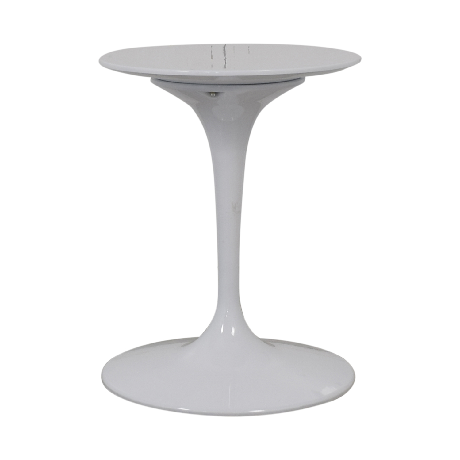 Kardiel Kardiel White Pedestal Bistro Table second hand