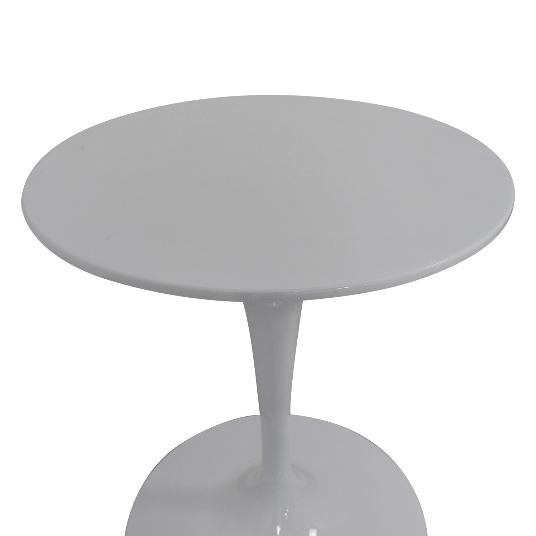 shop Kardiel White Pedestal Bistro Table Kardiel Tables