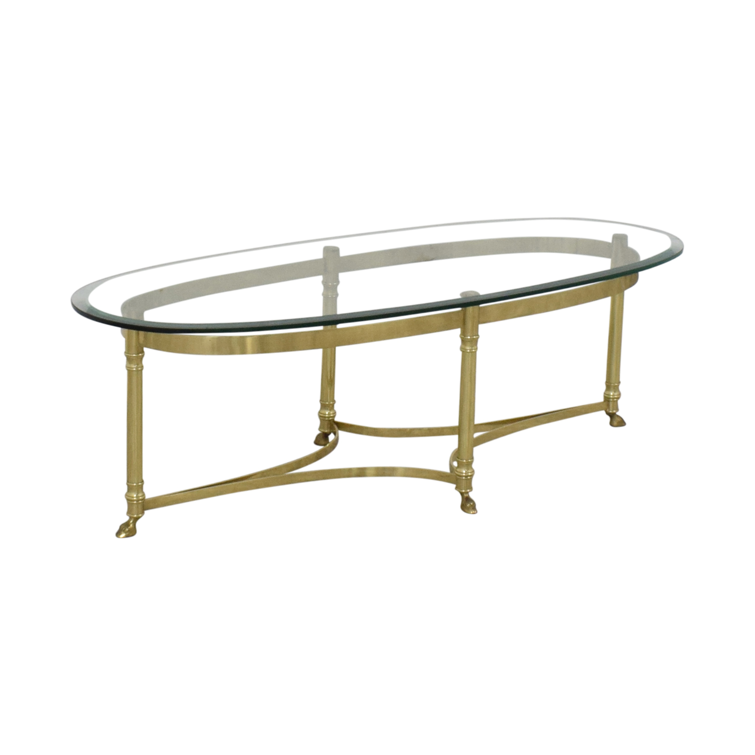 buy Glass And Brass Coffee Table  Tables