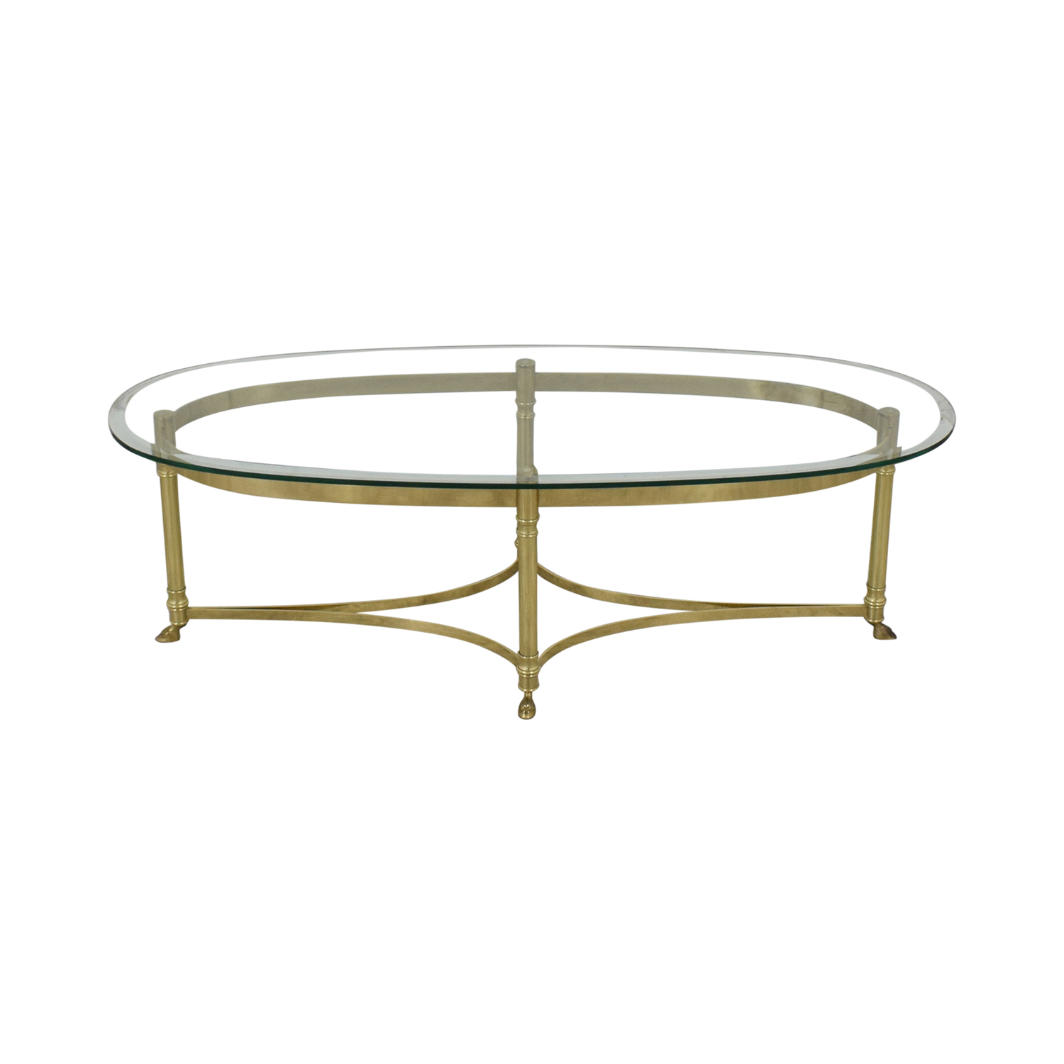 Glass And Brass Coffee Table Tables