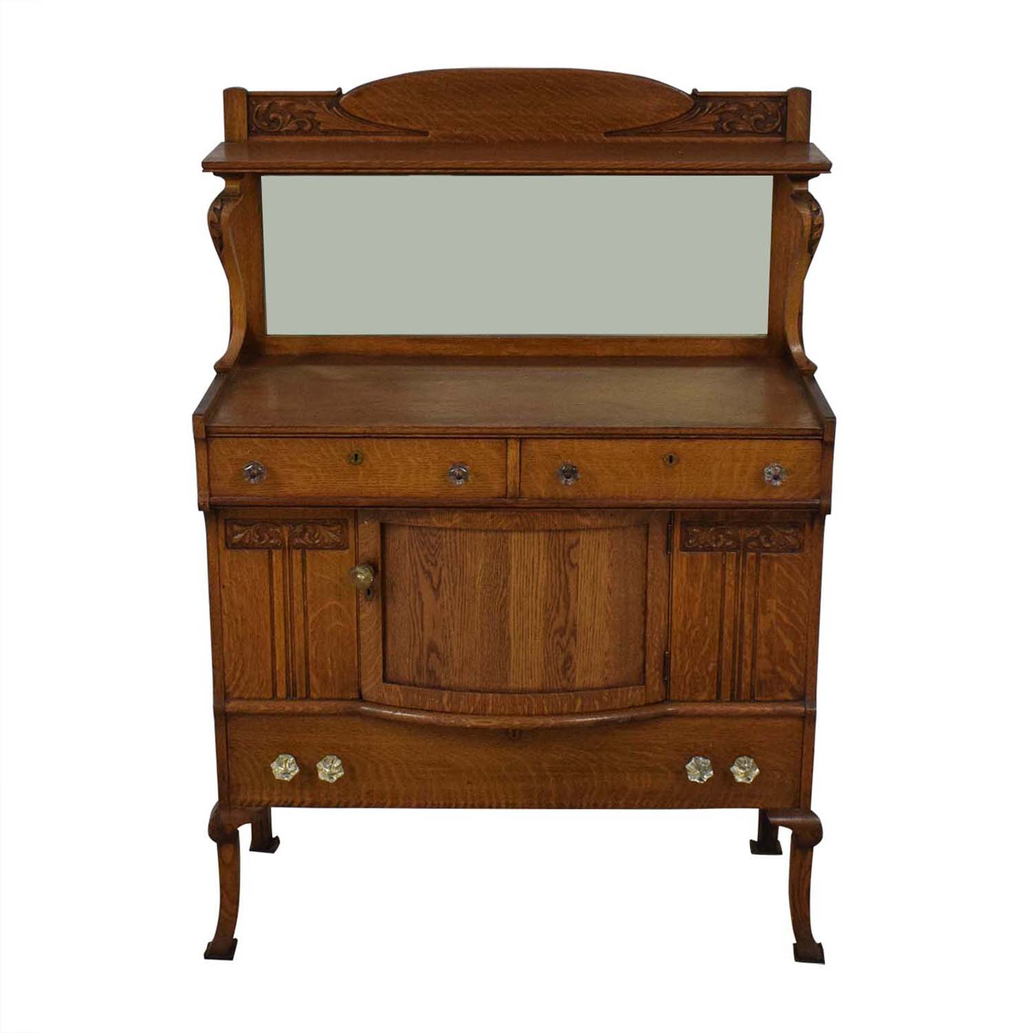 Antique Buffet With Mirror >> 81 Off Antique Buffet Cabinet With Mirror Storage